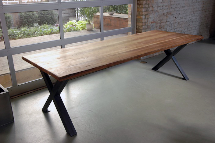 moss green architect reclaimed elm wood desk