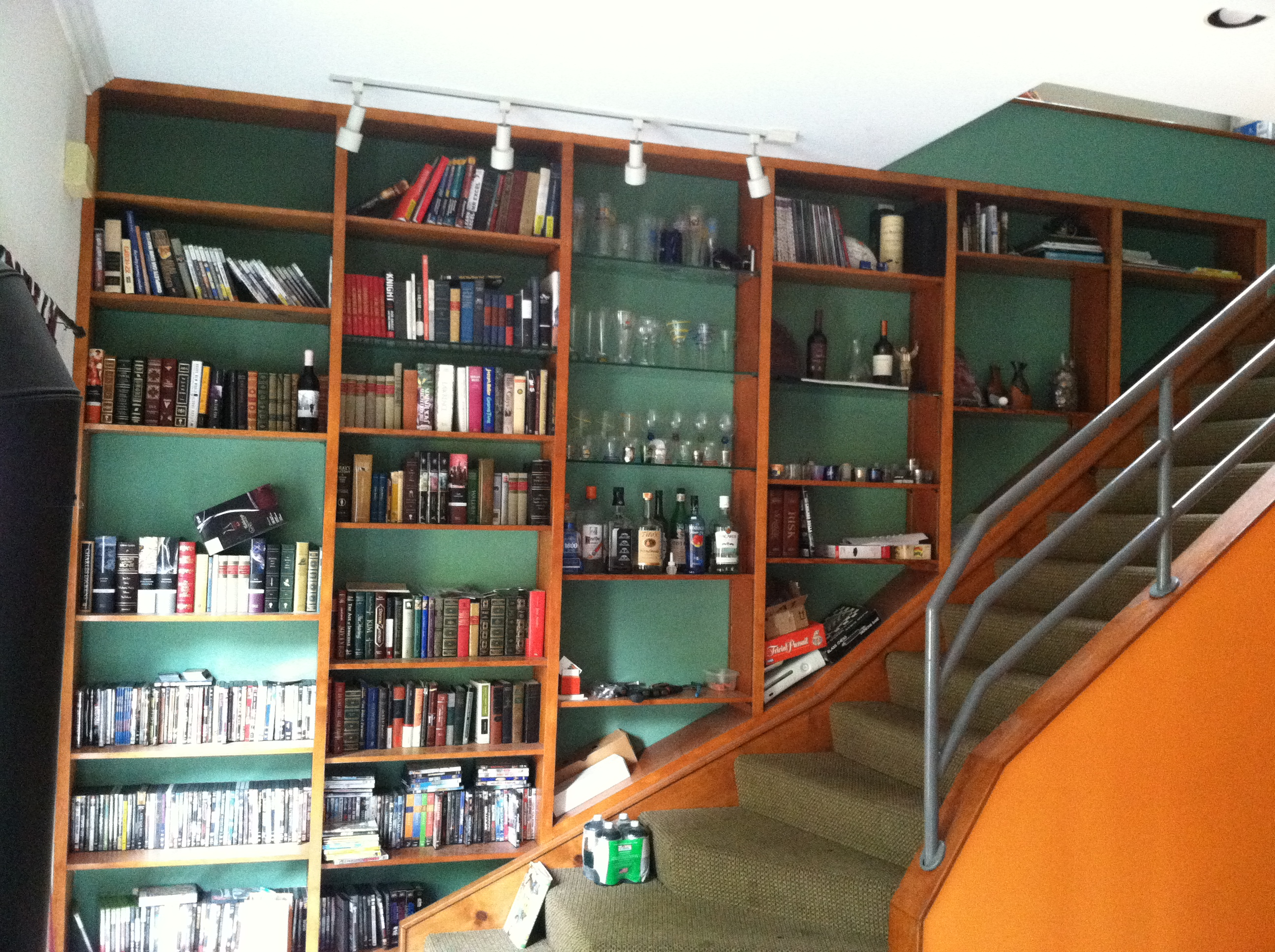 blog post stair entry bookshelf
