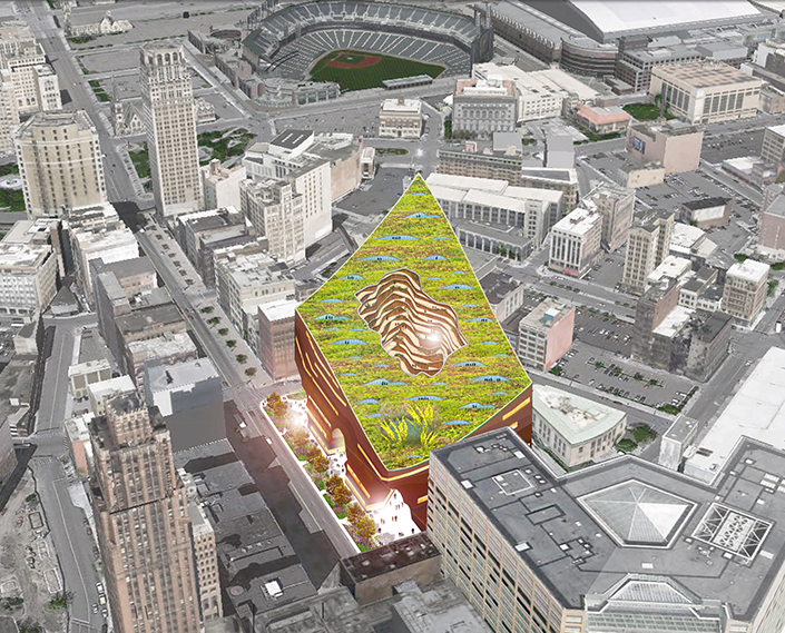 The Moss Proposal For Former Hudsons Site In Detroit