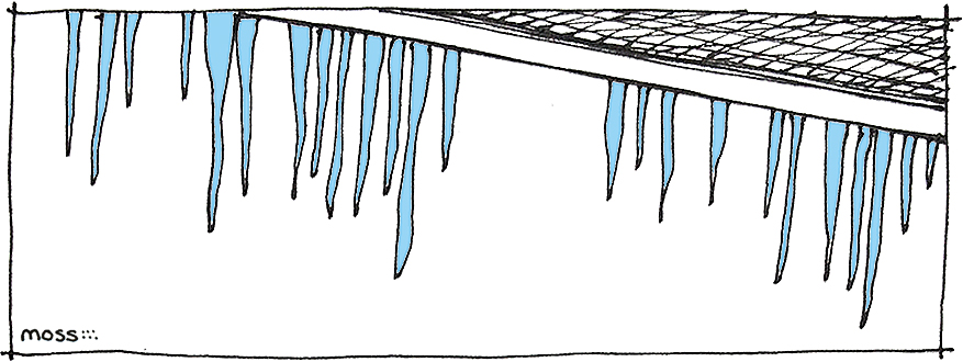 warm roof icicles