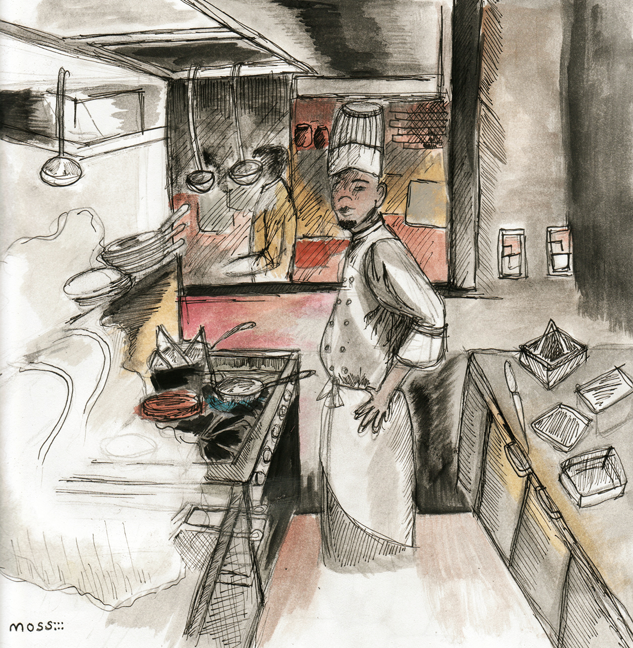Restaurant Kitchen Drawing transform a building into a restaurant: 7 key steps