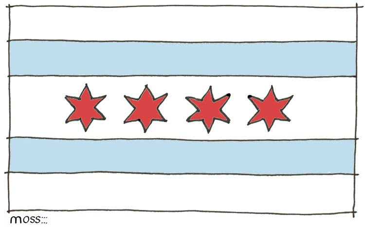 chicago flag sketch
