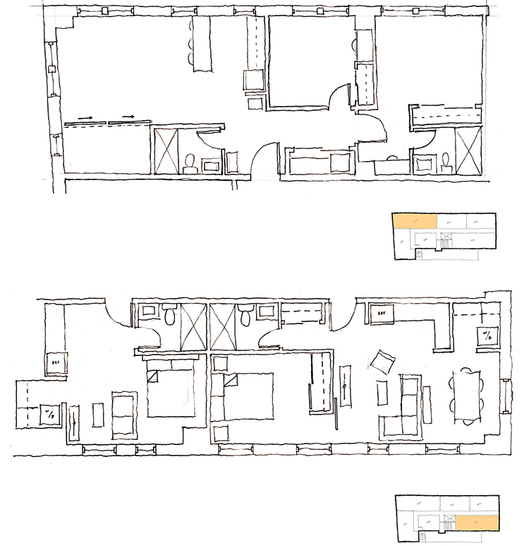 unit layouts sketch