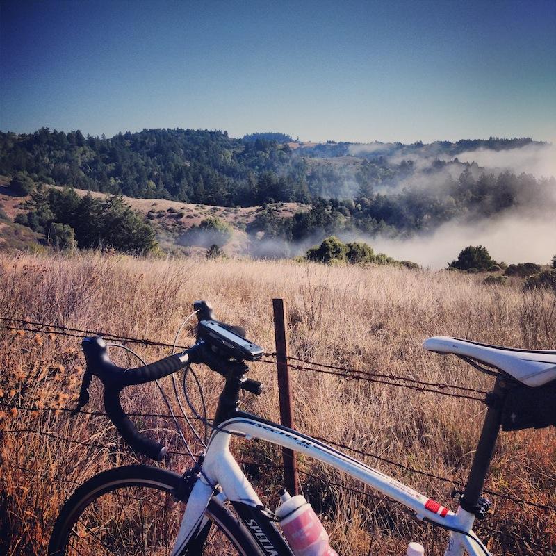 bike on canyon road