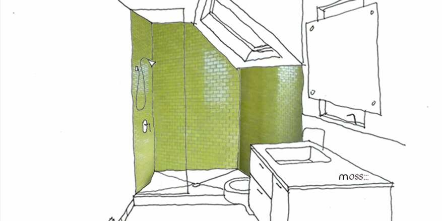 green bathroom renovation ideas