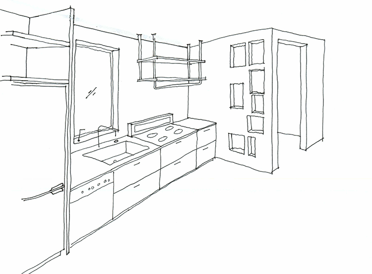 Coming soon sawyer house residential remodel for Interior designs kitchen sketches