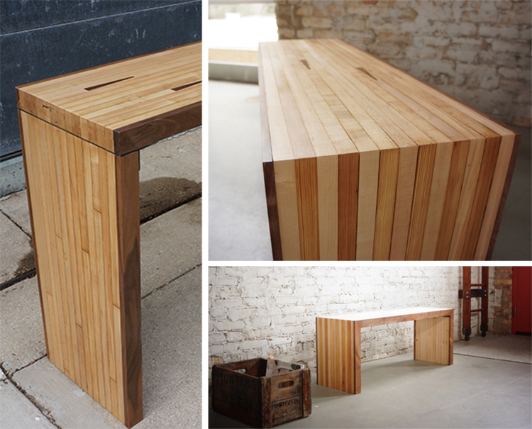 Elegant Bowling Alley Bench And Console
