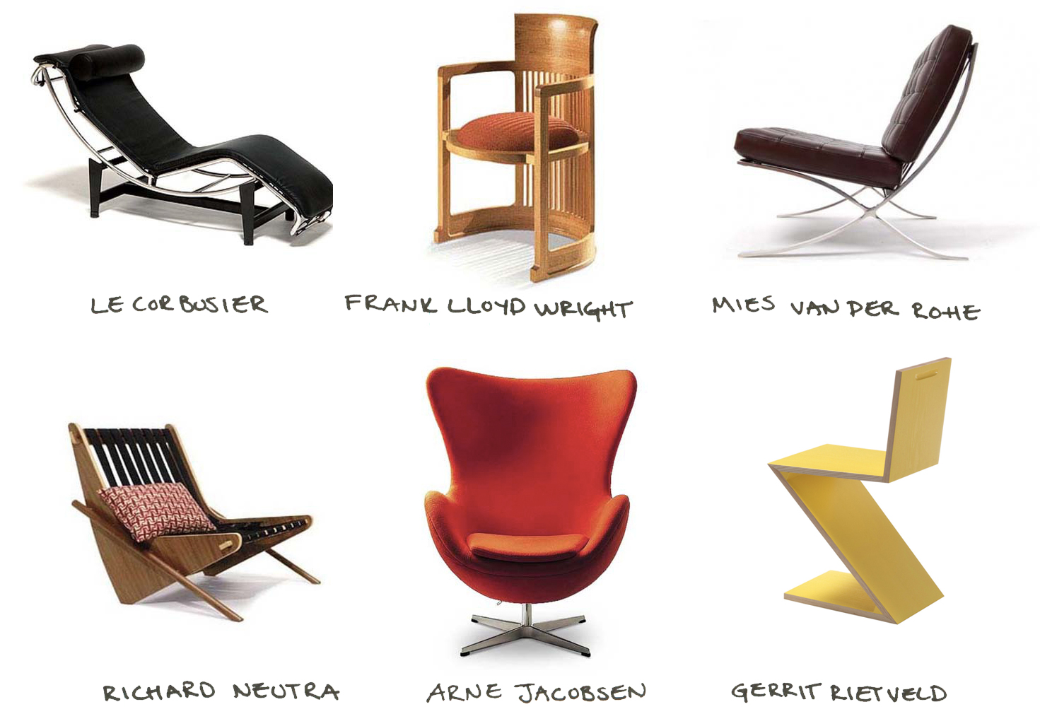 12 famous chairs designed by famous architects co design for Famous modern chairs