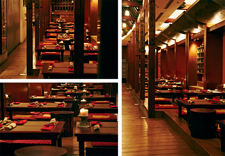 Traditional korean restaurant interior for Authentic korean cuisine