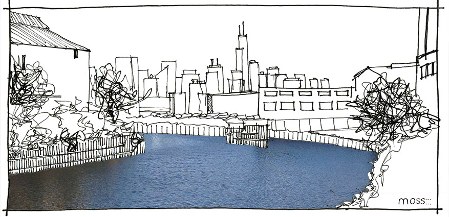 chicago river, north branch, combined sewer overflow, river as public space