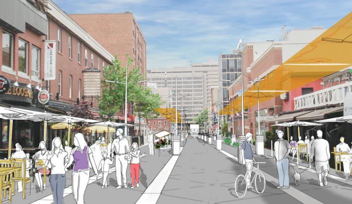 Argyle shared street rendering