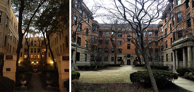 Apartment Building Courtyard chicago building types: the courtyard apartment