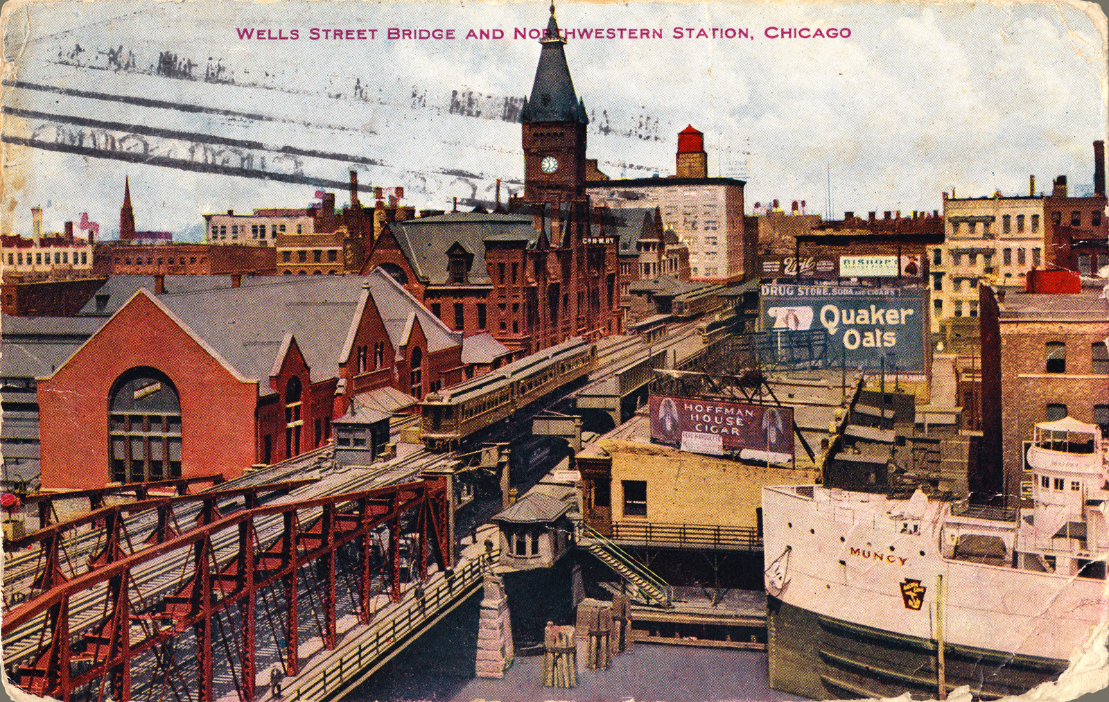wells-street-bridge_courtesy Postcard Roundup