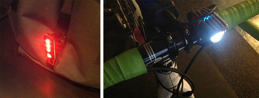 winter biking, bright bike lights
