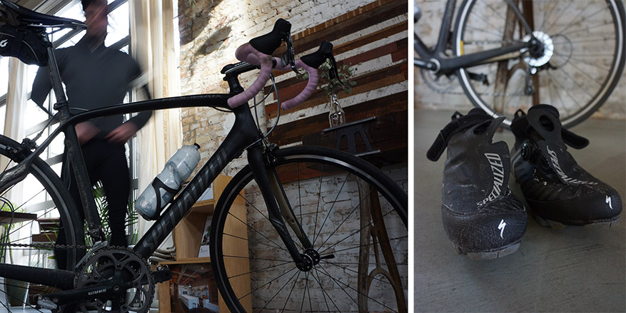 winter biking, specialized bikes