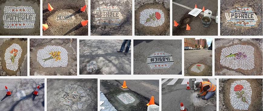 google search: chicago pothole mosaic