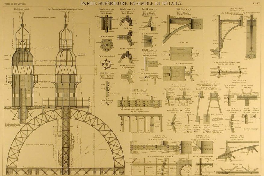 Eiffel Tower Technical Drawings Eiffel Tower Blueprints