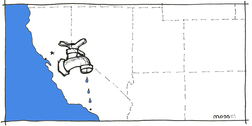 California drought, water hazard