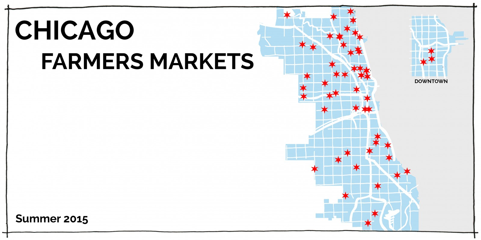 Chicago Farmers Market Map 2015