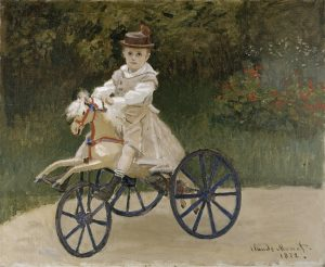 bike history, monet's son on a hobby horse