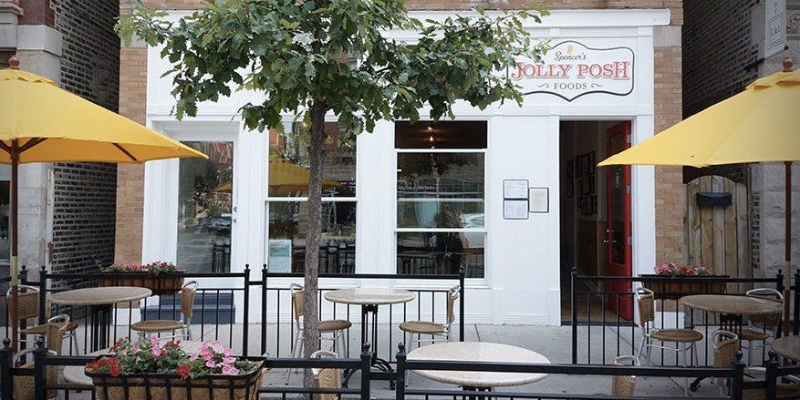 jolly posh sidwalk cafe