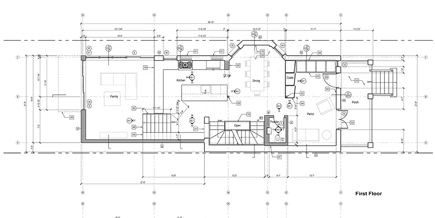 The process of design construction documents moss architecture floor plan construction documents malvernweather Image collections