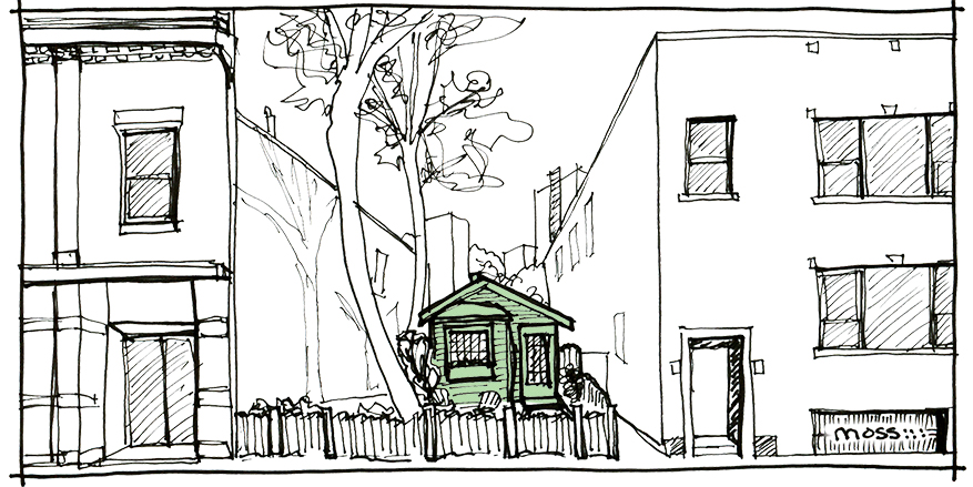 chicago fire cottage sketch