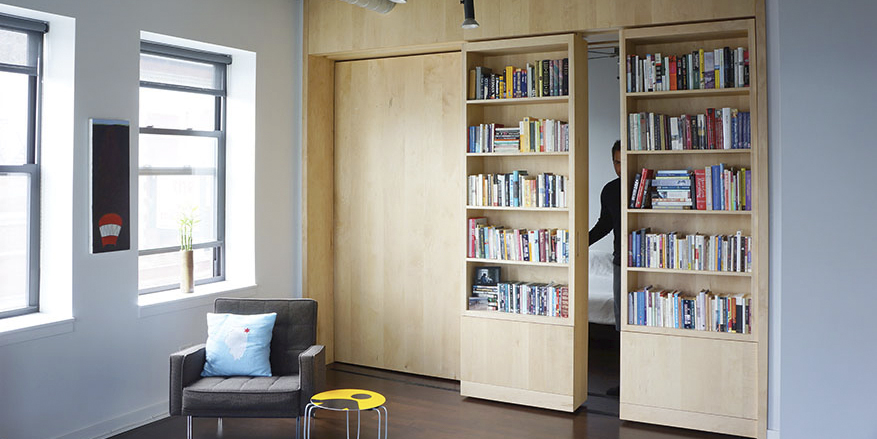How To Get More Out Of Your Walls Rolling Bookshelves Shoji Screens And Glazed Partitions