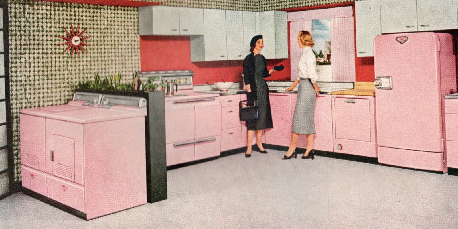 Pink Kitchen And Why The Kitchen Work Triangle Doesnt Work Moss Architecture