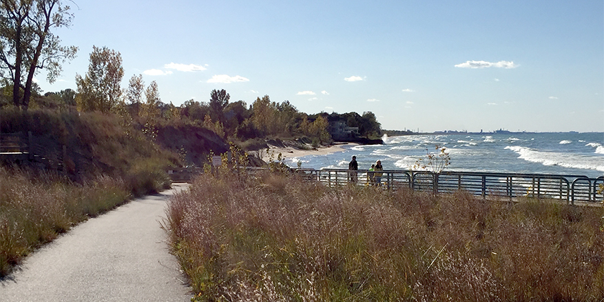dune shore and breakwater