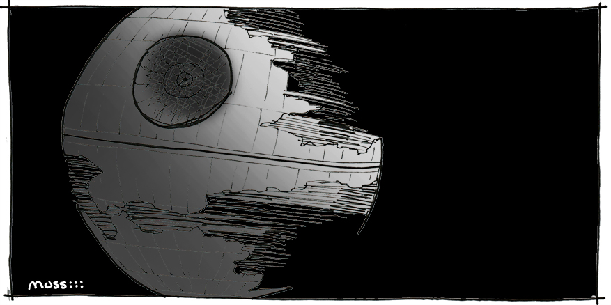 death star, architecture of star wars