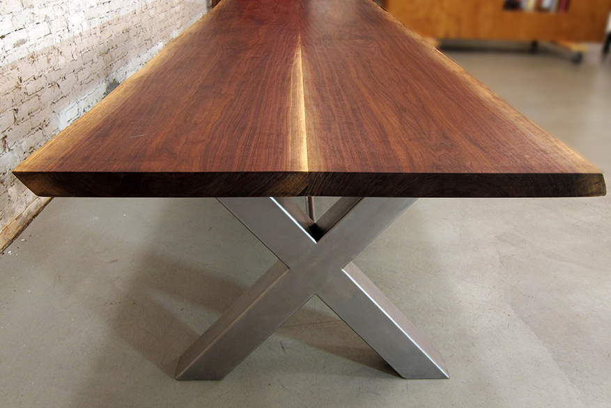 The Willow Springs Table Originates From Illinois Hence Name Where Gorgeous Old Black Walnut Was Struck By Lightning And