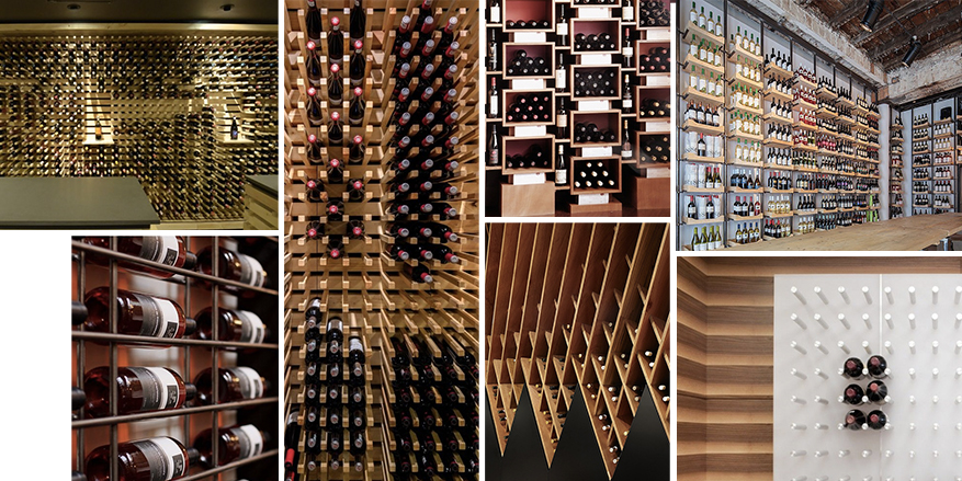 pinterest collage - wine rack