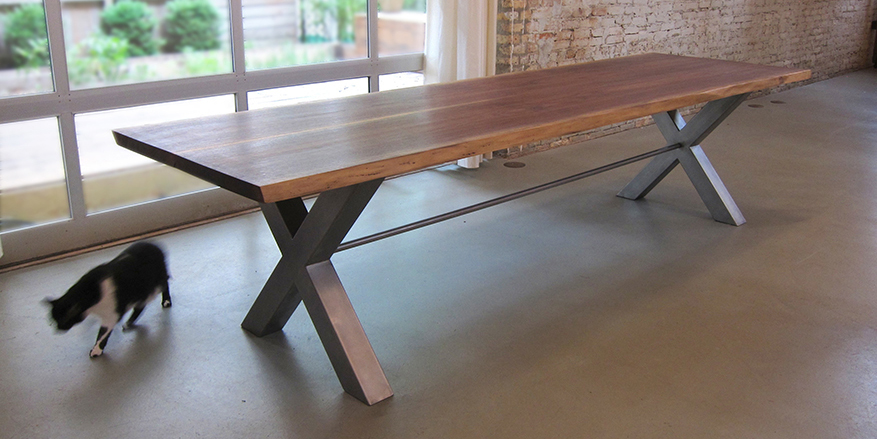 solid wood harvest table images