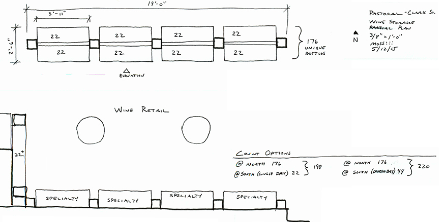 wine rack design plan