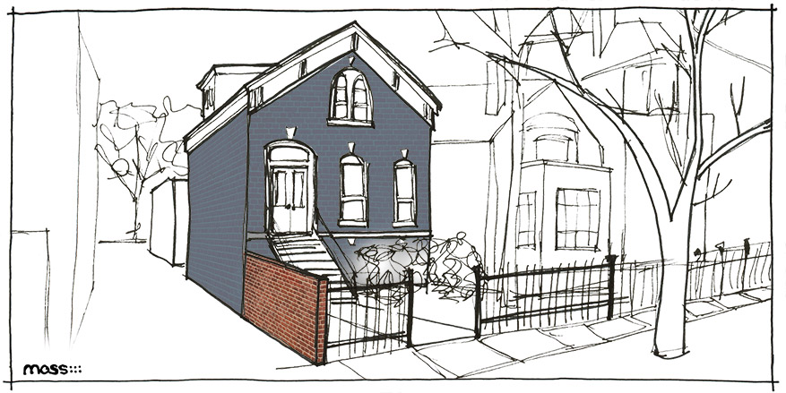 Chicago Building Types: Worker Cottage | Moss Architecture on chicago theater seating layout, chicago brownstone floor plans, chicago loft floor plans, london row houses floor plans,