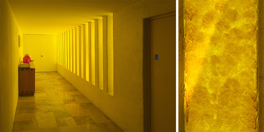barragan yellow light hallway