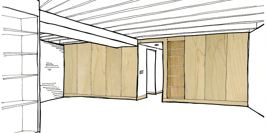 sketch_toward den wall_wood material