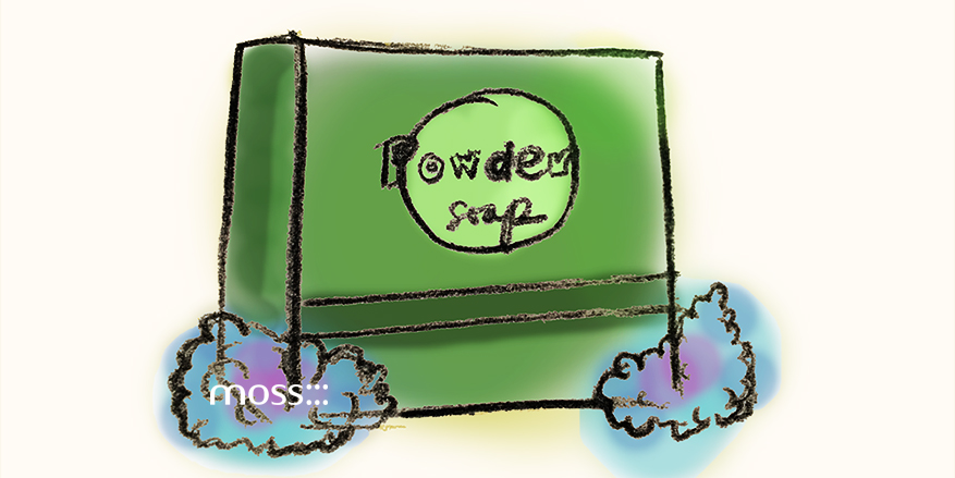 drawing of a powder dish detergent