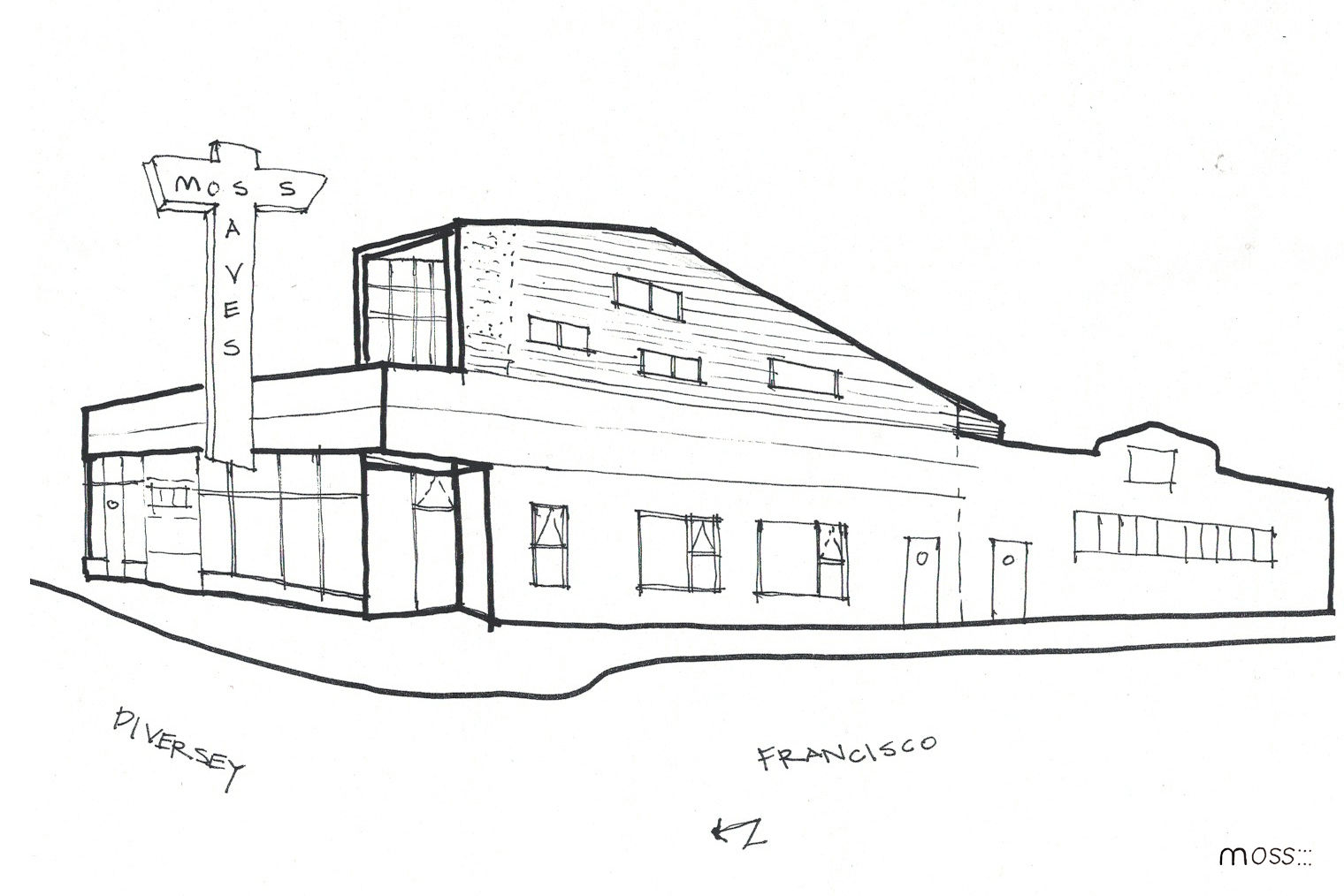 architecture house sketch. Fine Sketch Diversey  Inside Architecture House Sketch