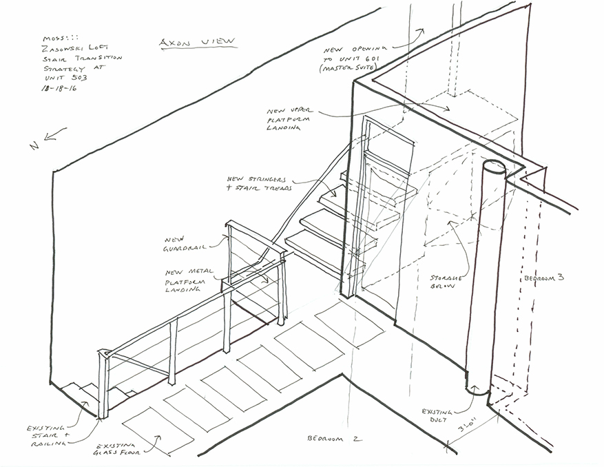 la cantina doors help duplex expand moss design Door Frame Glossary this sketch shows what existing elements of the unit will stay and how they will fit in with the new design elements